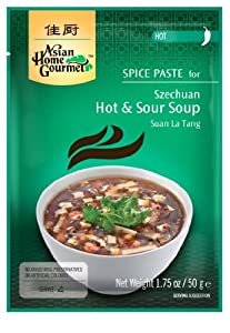 Asian Home Gourmet Szechuan Hot & Sour Soup, No MSG, 1.75-Ounce Pouch (Pack of 12) by Asian Home Gourmet