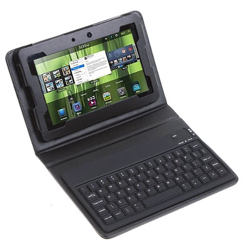 eWonder(R) Wireless Bluetooth Keyboard Case for Blackberry Playbook 7-Inch Tablet (Black)