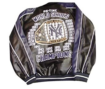 New York Yankees 26-Time World Series Champions Pleather Jacket by G-III Sports