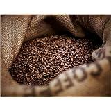 Poster 120 x 90 cm: Coffee beans in burlap sack di Adam Gault / Getty Images - stampa artistica professionale,...