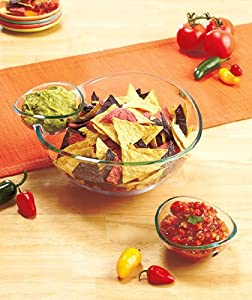 3 Piece Chip N Dip Serving Set - Shatterproof!