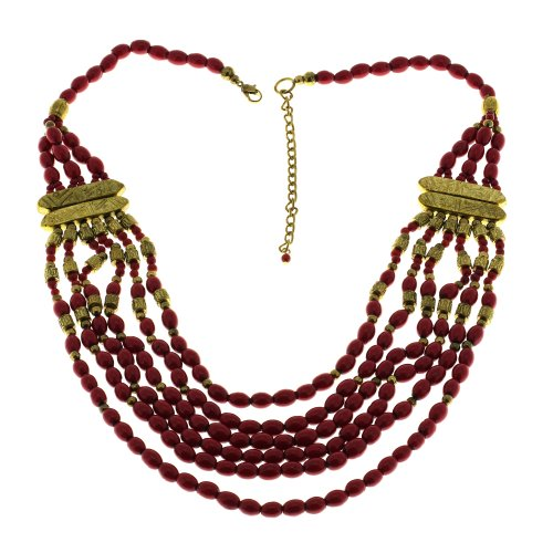 Party Fashion Necklace Fuchsia Costume Jewelry Artisan Crafted In India