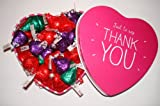 Thank you american Hershey dark chocolate kisses heart tin