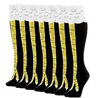 Gmark Women Crazy Chicken Cluck Legs Moisture Wicking Fitness Gifts Socks 1-7 Packs
