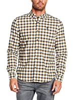 Timberland Camisa Hombre Tfo Ls Indrv Lightfl Cilantro Yd (Azul / Camel)