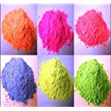 6 X 250GM Powder Paint Refill / Bags - 6 Fluorescent colours