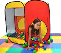 """Most Popular Play Tent: Six Sided Hexagon Twist Play Tent w/ 200 """"Phthalate Free"""" Play Balls & Carry Bags from Wonder Tent"""