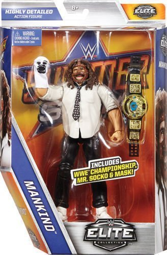 WWE Elite Summerslam 2017 Séries Wrestling Figurine D'Action - Mankind (Mick Foley) Avec ailé Aigle FIGURINE Ceinture