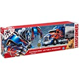 Transformers Age of Extinction - First Edition Optimus Prime with Trailer & Sideswipe