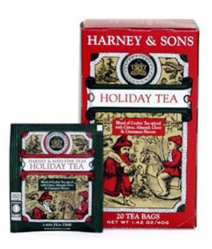 Harney And Sons Premium Tea Bags, Holiday Tea, 20 Count (Pack Of 6)