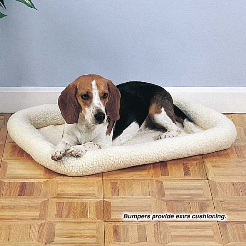 Slumber Pet Sherpa Crate Dog Bed, Small, Natural Beige front-911360