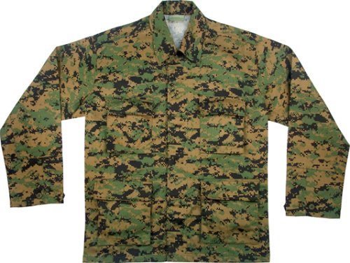 Digital Woodland Camouflage BDU Shirt Army Universe Tees Shirts ... 64a92fe5859e