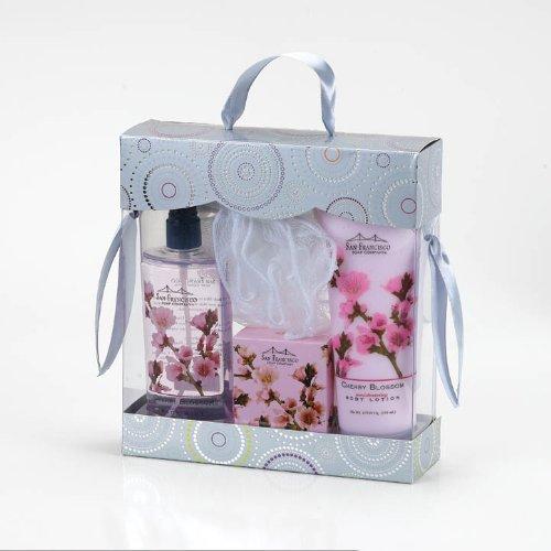san-francisco-soap-co-body-lotion-body-mist-bar-soap-pouf-bath-and-body-gift-boxed-4-piece-set-cherr