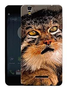 "Humor Gang Scared Cat Printed Designer Mobile Back Cover For ""Yu Yureka Plus"" (3D, Matte, Premium Quality Snap On Case)"