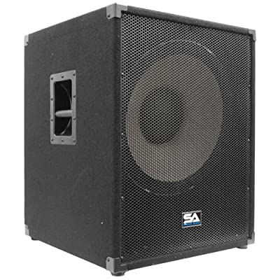 "Seismic Audio - 18"" Subwoofer PA DJ PRO Audio Band Speaker Sub - Chest Thumping Bass from Seismic Audio"