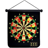 CyberDyer Double Sided Design Magnetic Hanging Dart Board With 6 Pcs Reversible Darts