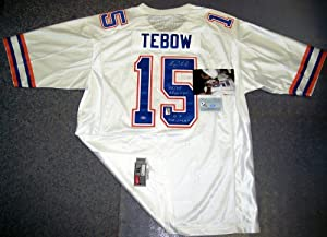Tim Tebow Autographed Hand Signed Florida Gators White Nike Jersey - with 06,08... by Creative+Sports