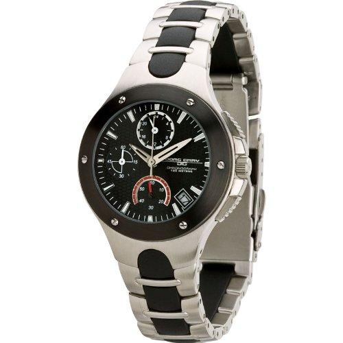 Jorg Gray JG1800-11L - Reloj analógico para mujer, correa de acero inoxidable color plateado