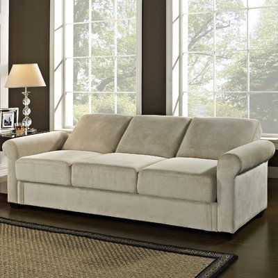Lifestyle Solutions Serta Dream Thomas Convertible Sofa in Light Brown