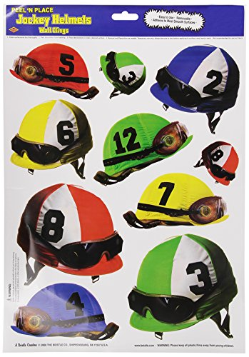 Jockey Helmets Peel 'N Place Party Accessory (1 count) (10/Sh)