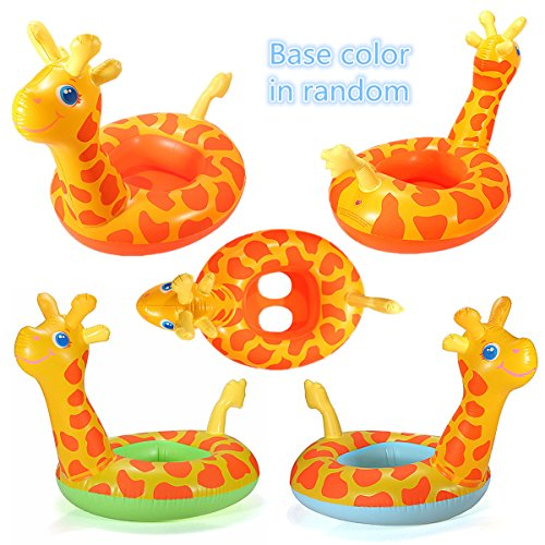 Child Giraffe Swim Ring Seat Inflatable Blow Up Swimming Pool Summer Kid Boat (Blow Pop Adult Costume)