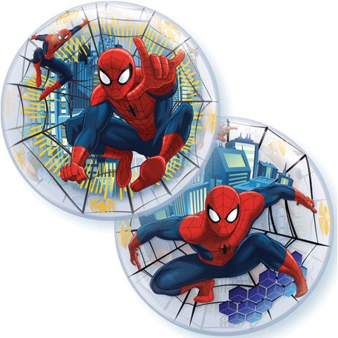 "22"" Ultimate Spiderman Bubble Balloon Plastic (1 per package)"