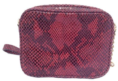 MICHAEL Michael KorsMichael Kors Hamilton Red Python Embossed Leather Cross-body
