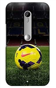 football Designer Printed Back Case Cover for Motorola Moto X Play