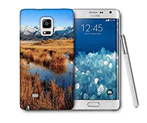 Snoogg Dried Grass Printed Protective Phone Back Case Cover For Samsung Galaxy NOTE EDGE