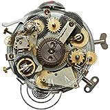 LifeUp- Orologio da Parete Moderni Design Meccanici Numeri Romani, Adesivi Murali 3D Servizi da Tavola Decorazioni Casa, Regalo Originale Natale Compleanno, 40*40cm