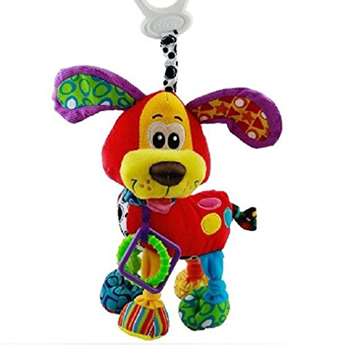 New Baby Hot New Baby Newborn Gift Bed Hanging Dog Plush Rattle Teether Educational Toys front-463254