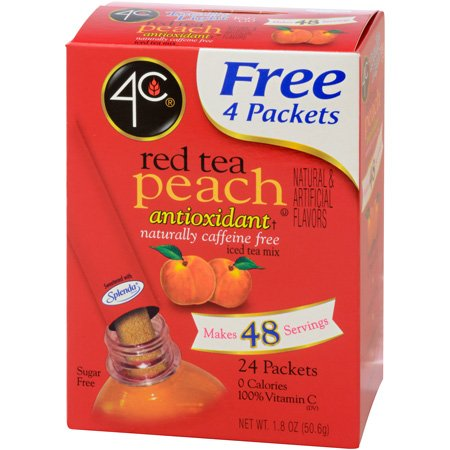 4C Totally Light Iced Tea - Red Tea Peach- 24 Stix