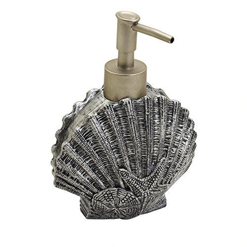 Zenna Home, India Ink Beach Cottage Lotion or Soap Dispenser, Nautical (Sea Shell Soap Dispenser compare prices)
