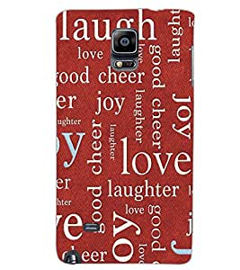 SAMSUNG GALAXY NOTE EDGE LOVE TEXT Back Cover by PRINTSWAG