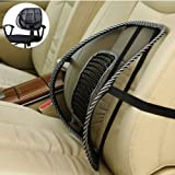 Black Mesh Lumbar Back Brace Support Office Home Car Seat Chair Cushion Cool