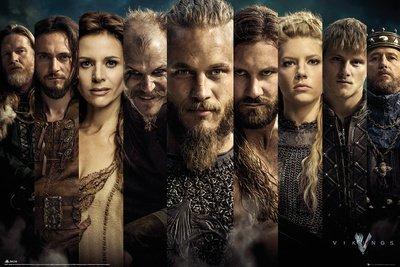 Vikings Poster Grid personaggi-Poster grande dimensioni (91,5cm X 61cm)