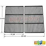 bbq factory K60662 Porcelain Cast Iron Cooking Grid Grate Replacement for Select Gas Grill Models by Brinkmann, Grill Chef, Grill Zone and Others, Set of 2