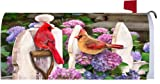 Cardinals & Hydrangeas 1969MM Magnetic Mailbox Cover Wrap
