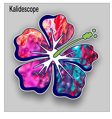 Hibiscus Flower sticker / decal **Free Shipping** (kalidescope) (Colorful Flower Car Decals compare prices)