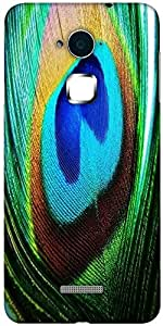 Snoogg peacock feather closeup Designer Protective Back Case Cover For Coolpad Note 3 (White, 16GB)