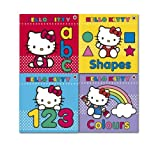 Ladybird Hello Kitty Board Book Collection 4 Books Set, (Colours, Shapes, abc and 123)