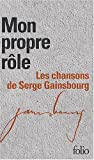 """echange, troc Serge Gainbourg - Coffret Folio """"Mon propre rôle"""" - Gainsbourg - 2 volumes - L'intégrale des Paroles"""