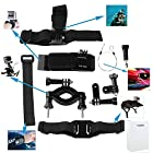 TARION 6 in 1 KT 113 Bike Bicycle Motor Cycling Accessory Kit Helmet Front Mount Handlebar for GoPro HD Hero 3+ 3 2 Camera Camcorder
