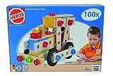 Toy - HEROS 100039027 - Constructor gro�e Lok, 100-teilig - Holz-Konstruktionsset - 4 verschiedene Modelvarianten baubar - Made in Germany