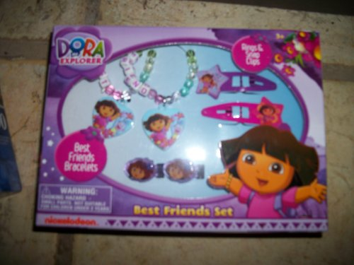 Best Friends Set/ Bracelets/ Dora Hair Clips/ Dora Rings - 1