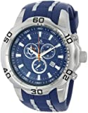 Joshua & Sons Men's JS50BU Blue and Silver-Tone Metal Watch with Silicone Strap