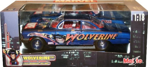 Wolverine 1962 CHEVROLET BEL-AIR 1:18 Scale Maisto Marvel Die-Cast Metal Collectible Vehicle