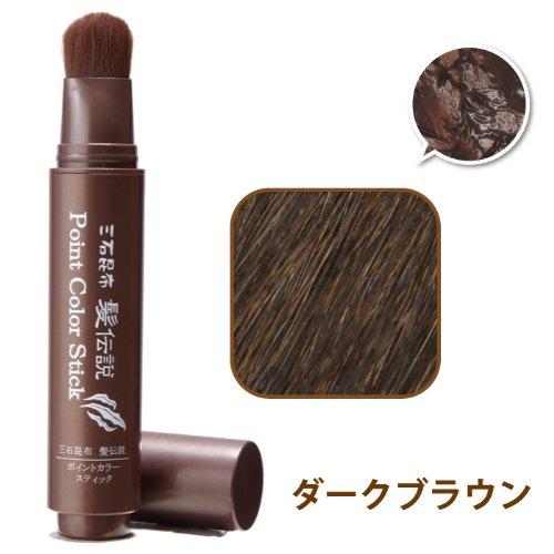 髪伝説ポイントカラースティック ダークブラウン 20g