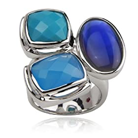 ELLE Sterling Silver Multi Stone Ring