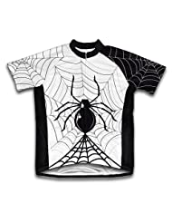 Half Night Spider Short Sleeve Cycling Jersey for Women